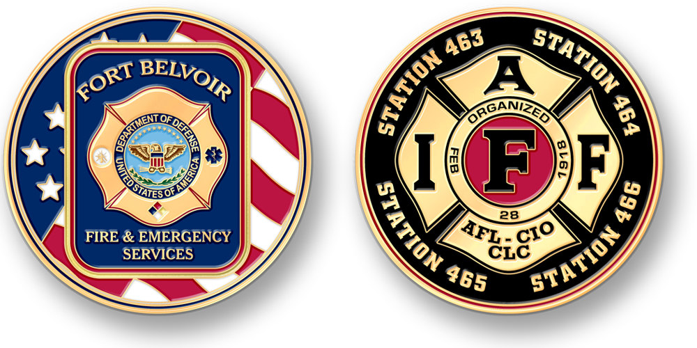 custom fire department coins