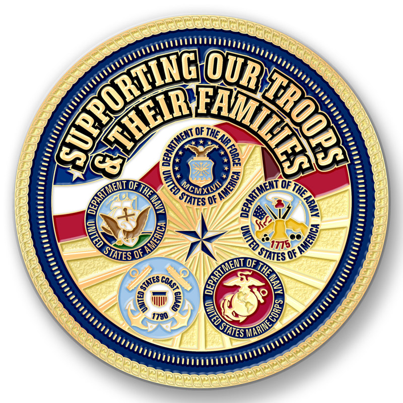 Create Custom Challenge Coins For Military Family