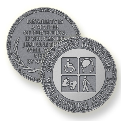 Award Individuals with Disabilities with a Custom Challenge Coin