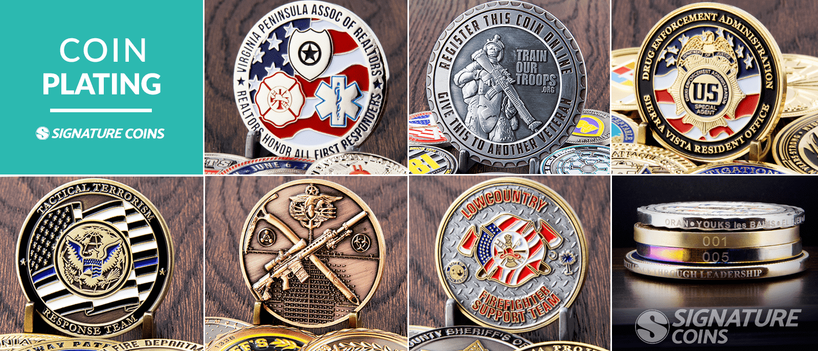 signature coins challenge coin plating