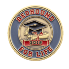 redhound for life college coin