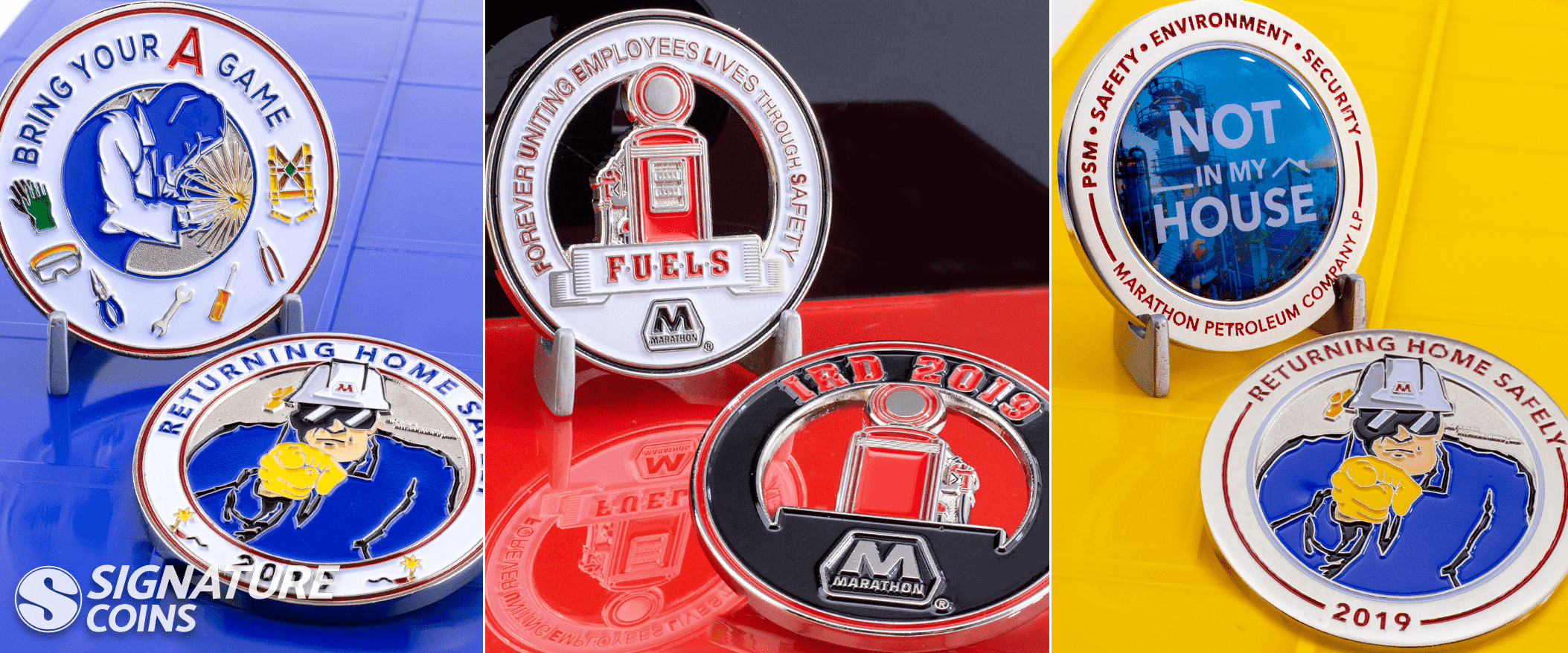 safety incentive coins
