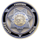 Fresno California Police Challenge Coin Front