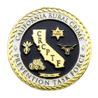 California Rural Crime Challenge Coin Front