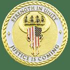 California Rural Crime Challenge Coin back