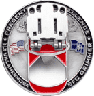 720th EOD 2nd PLT Bottle Opener Challenge Coin - opened
