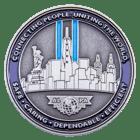 Newark Chief Pilot Office 3D Challenge Coin back