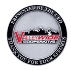 ValleryWide Cooperative Challenge Coin front