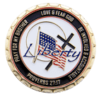 Liberty Baptist Church Challenge Coin back