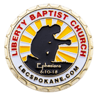 Liberty Baptist Church Challenge Coin front