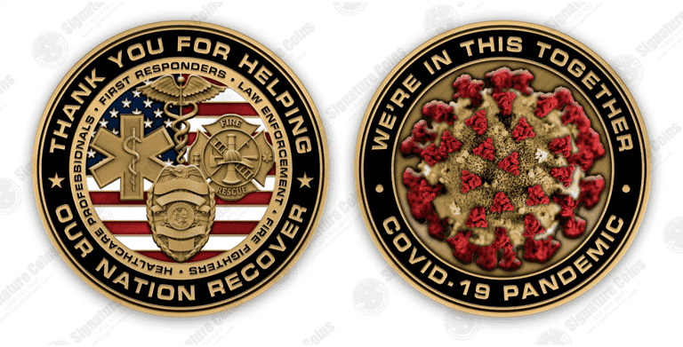 Our Nation Recovers 2020 - Covid Stock Challenge Coin