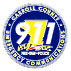 Caroll County 911 Communications Challenge Coin Front
