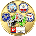 Department of Health challenge coin back