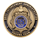 USDEA Trauma Team Antique Gold front