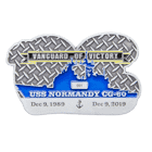 Vanguard of Victory USS Normandy Navy Challenge Coin back