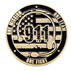 911 Emergency Challenge Coin Front