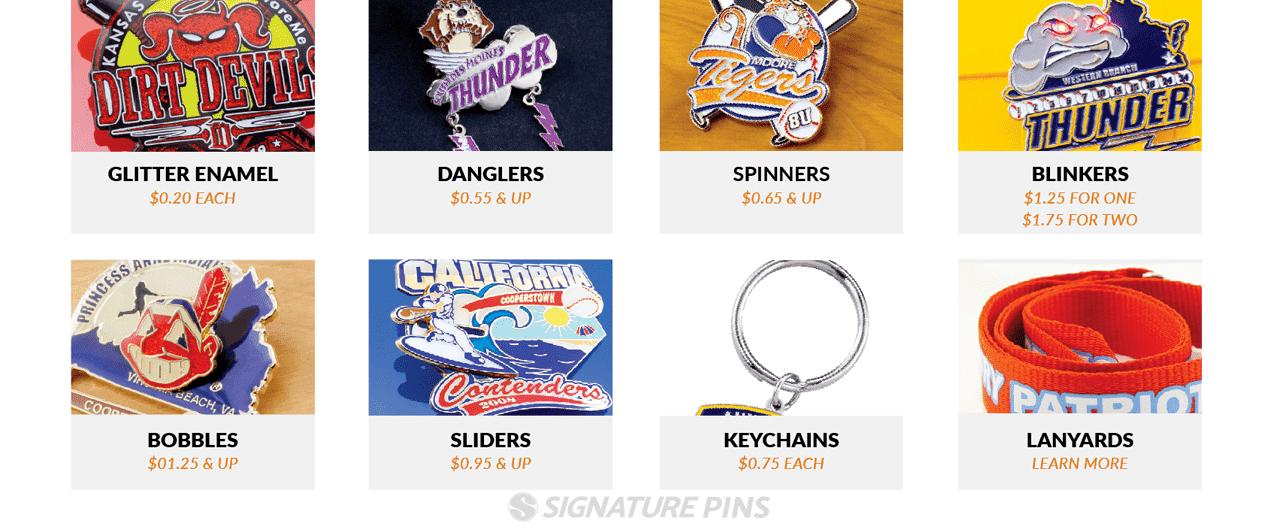 Ordering Baseball Trading Pins and Softball Pins Upgrades and Options