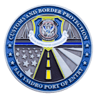 Sand Ysidro Port of Entry Customs and Border Protection Challenge Coin Front