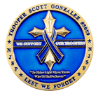 Troopers Bridge Foundation Challenge Coin Back
