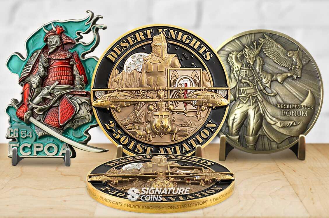 3D Challenge Coins