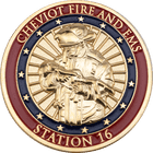 Cheviot Fire Station Coins