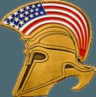 Spartan Helmet Bottle Opener Coin