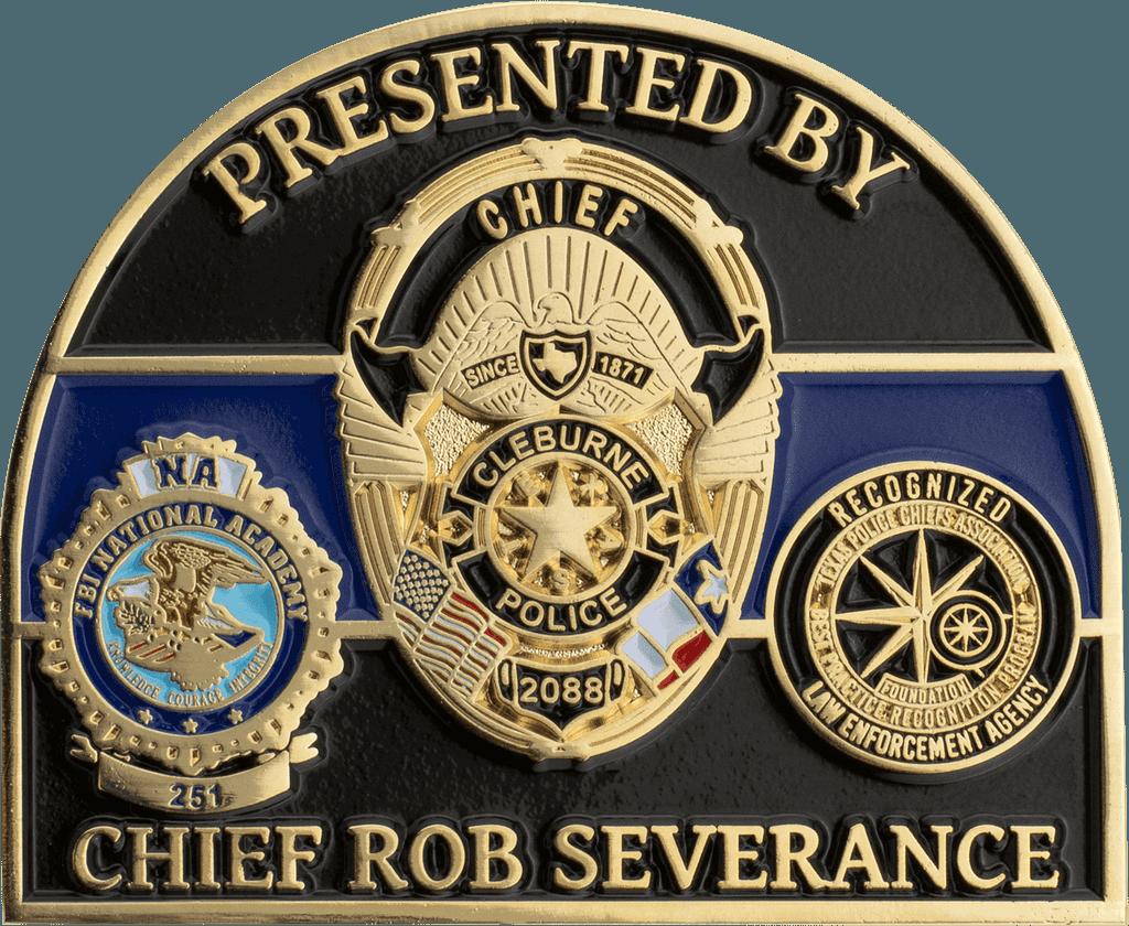 custom police challenge coin details