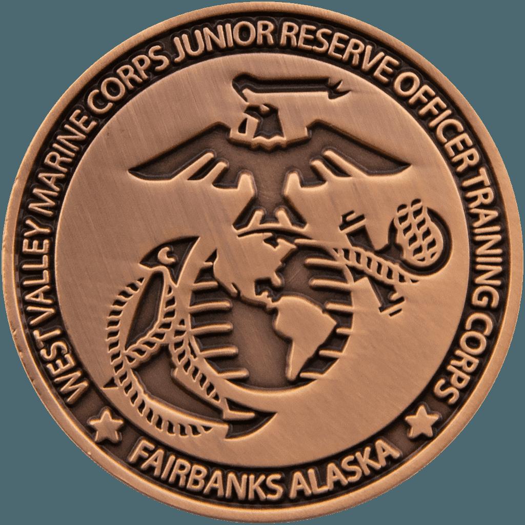 custom Marine challenge coin details