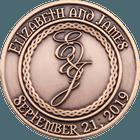 Elizabath and James Wedding Coins