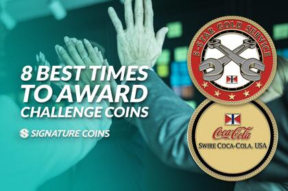 8 Times to Award Challenge Coins