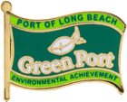 Green Port Flag Pin