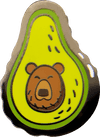 Avocado Bear Hat Pin