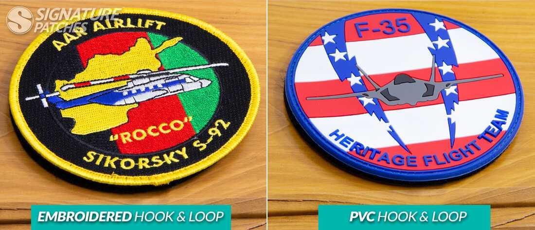 signaturepatches-hook-and-loop-Emboridered-PVC-comparison3
