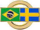 Brazilian and Swedish Flag Pin