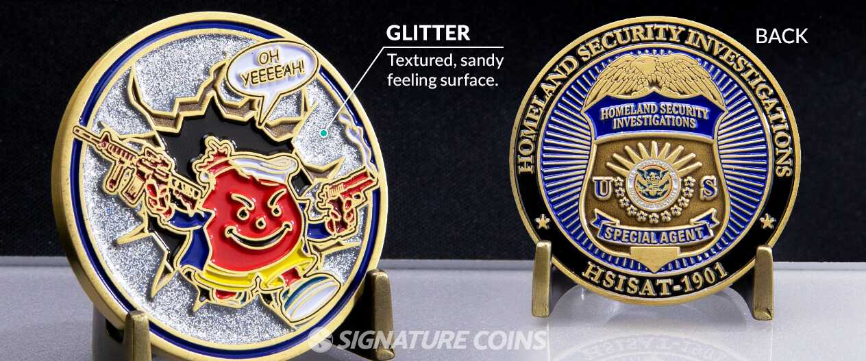 SignatureCoins-Glitter-Enamel-Homeland-Security-Investigations-Challengecoin