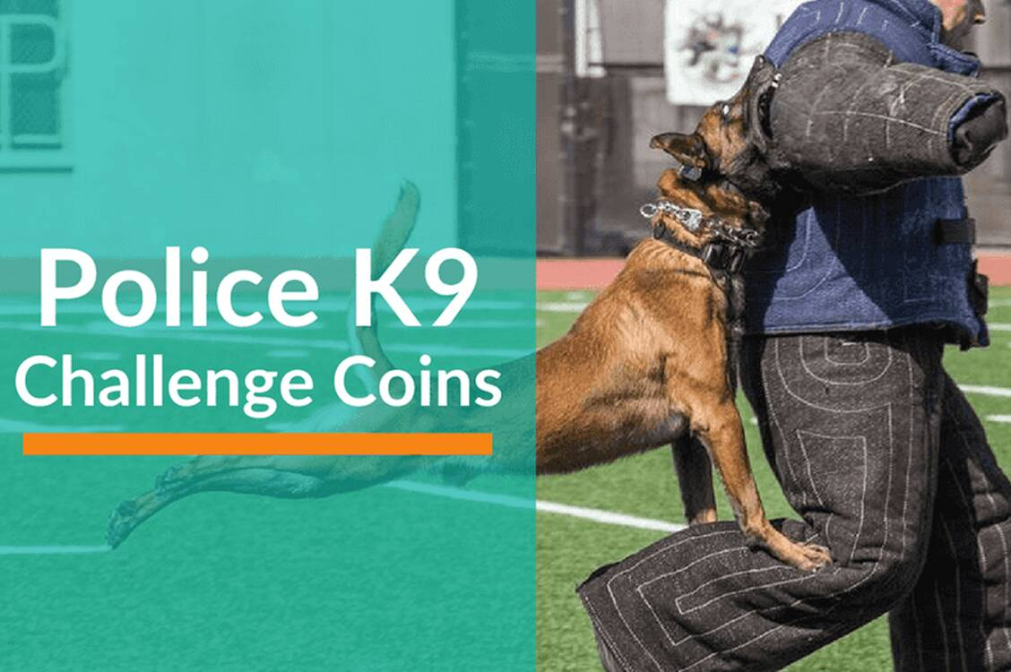 Police K9 Challenge Coins