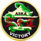 ASKA victory Black karate patch
