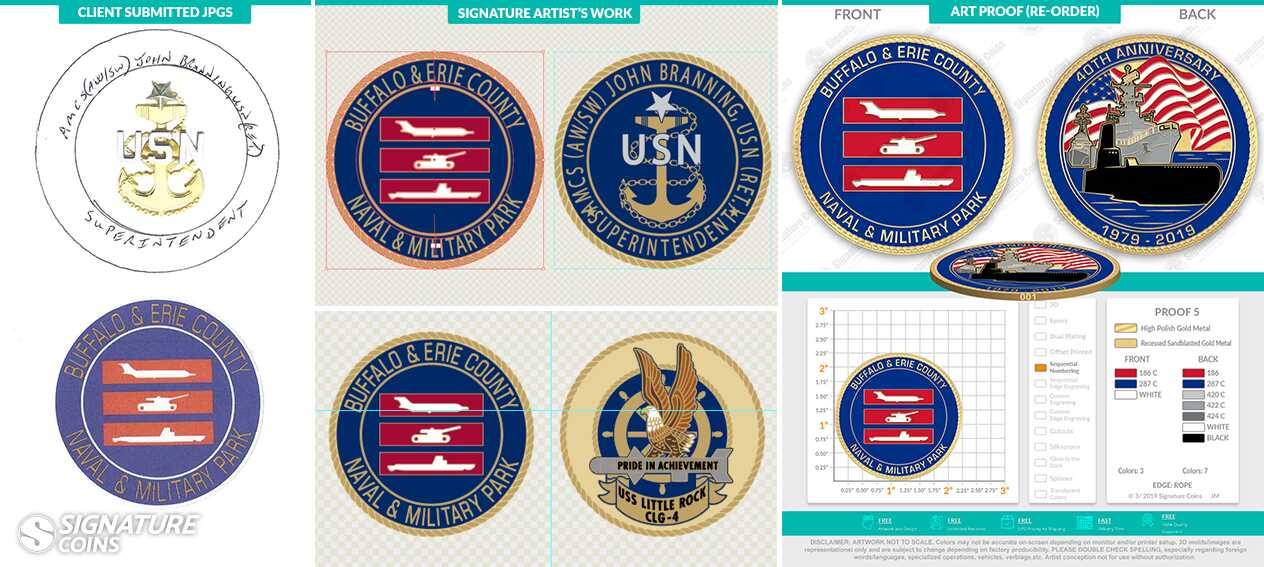 Signature Coins Navy Ship Challenge Coins9