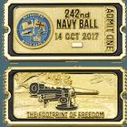 Navy Ball Ticket Coin