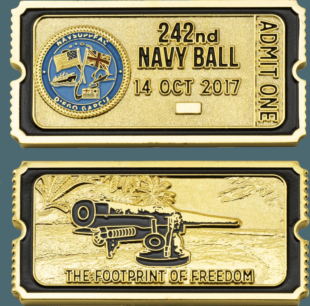 custom Navy challenge coin details