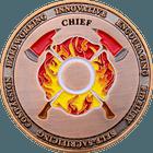 Copper Fire Chief Coin