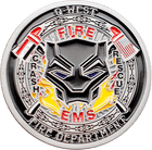 Black Panther Firefighter Coins