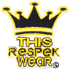 This Respek Wear Iron On patch