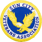Sun City Veterans Association Iron On Patch