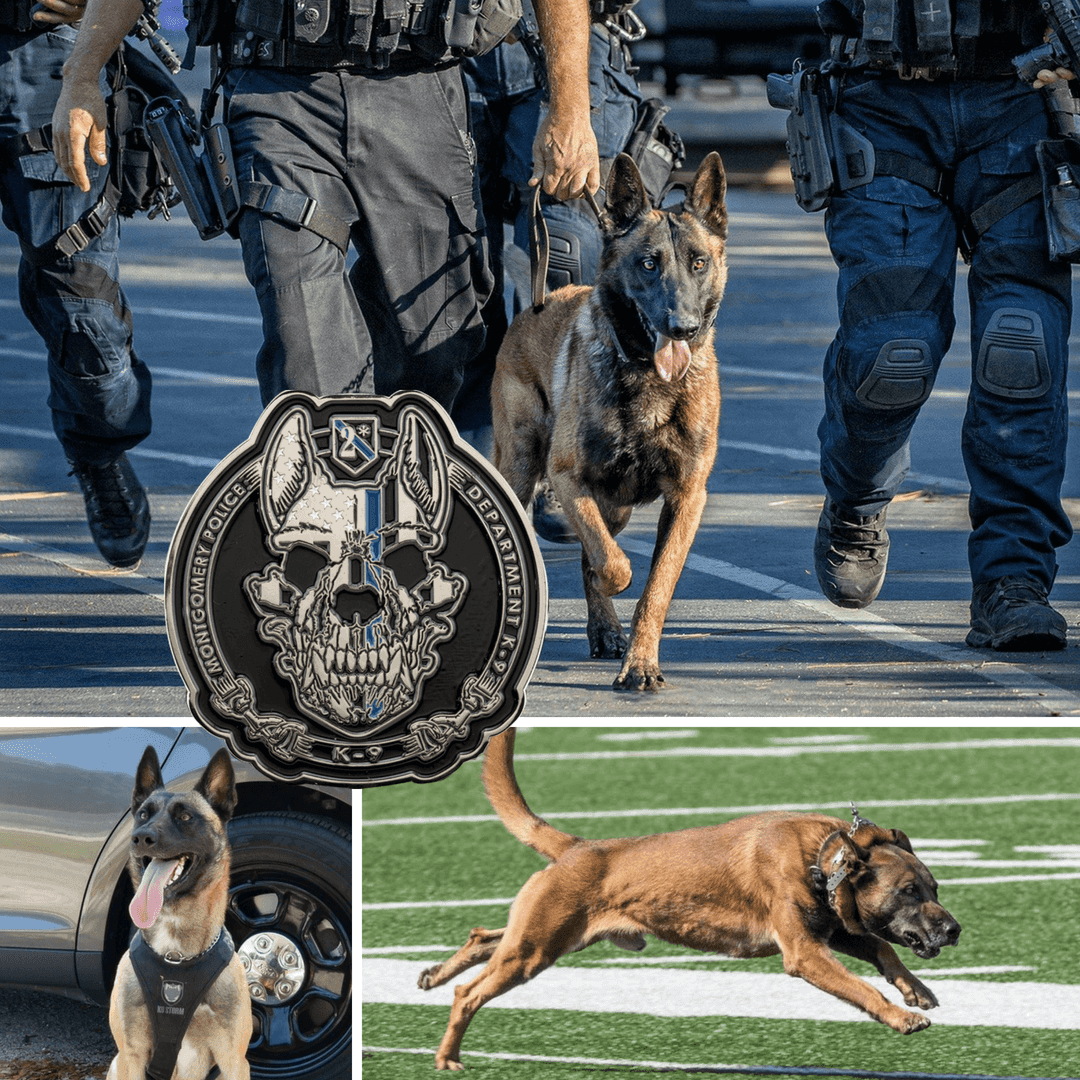 Custom Police K9 Challenge Coins - Signature Coins