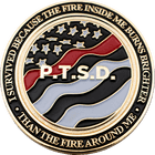 PTSD Firefighter coin
