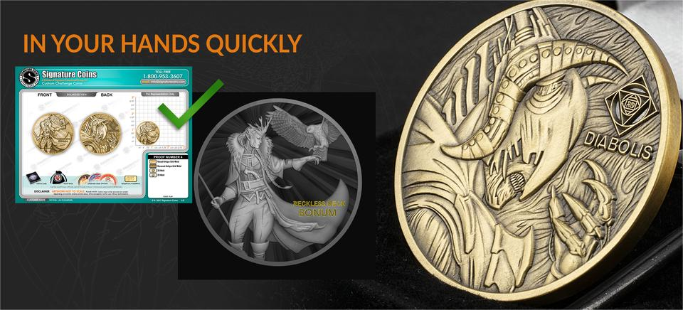 High quality custom 3D coins made quickly