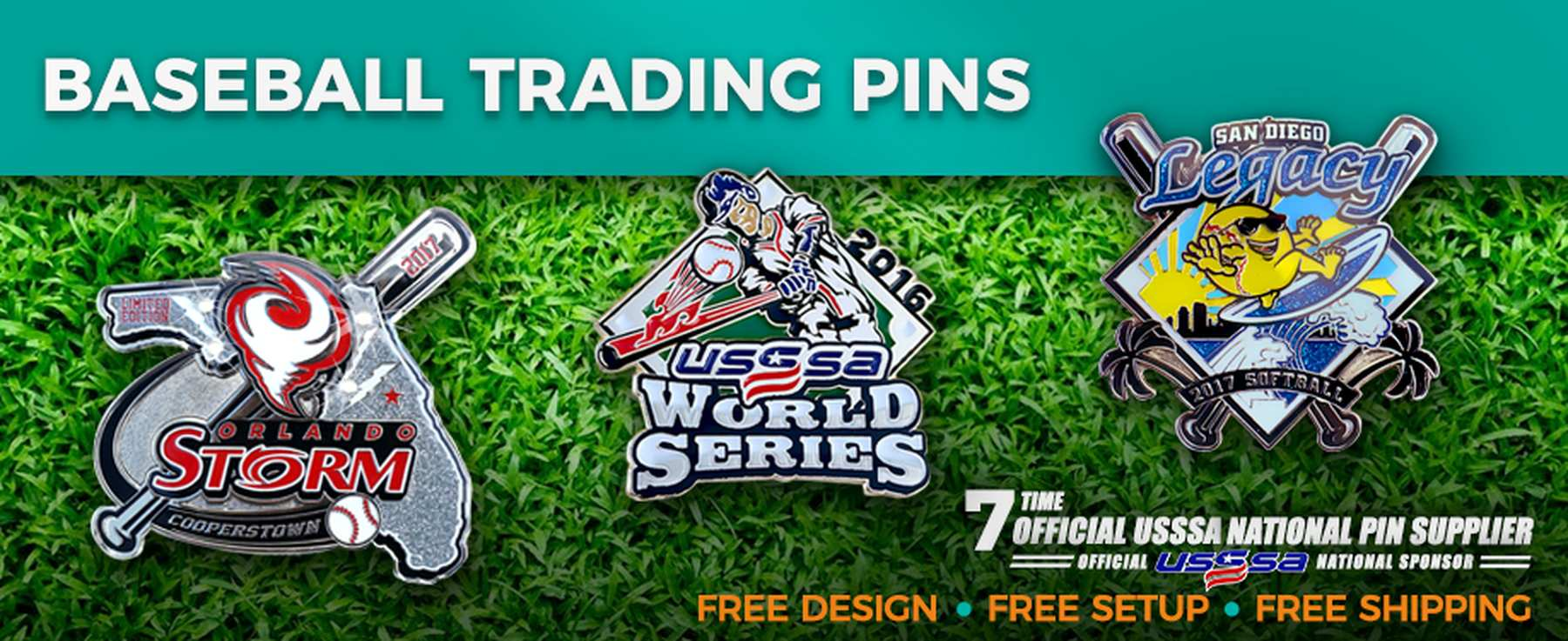 Custom USSSA Trading Pins