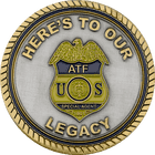 ATF Dual Plated Coin