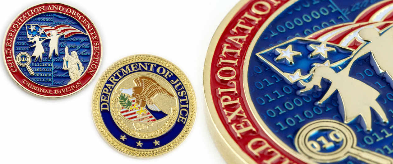us-department-of-justice-child-exploitation-criminal-division-challenge-coin